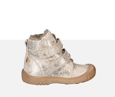Klett-Schuhe SPARKLE TEX gefüttert in gold/beige von bisgaard
