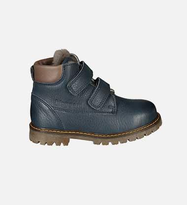 Klett-Schuhe COZY gefüttert in dunkelblau von bisgaard