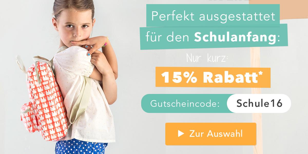 Alles für den Schulanfang bei tausendkind.de - 15% für kurze Zeit