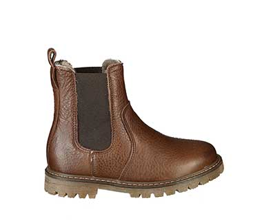 Chelsea-Boots ABSOLUTE CLASSICS gefüttert in dunkelbraun von bisgaard