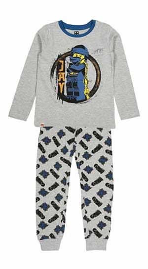 Schlafanzug CM-50448 2-teilig meliert in grau