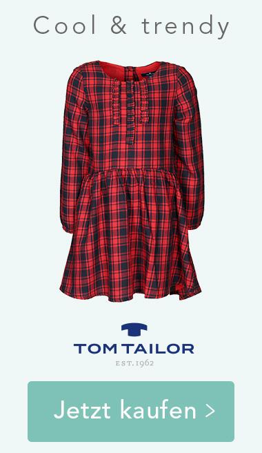 Langarm-Kleid FLANNEL in rot/dunkelblau von Tom Tailor. Jetzt kaufen >