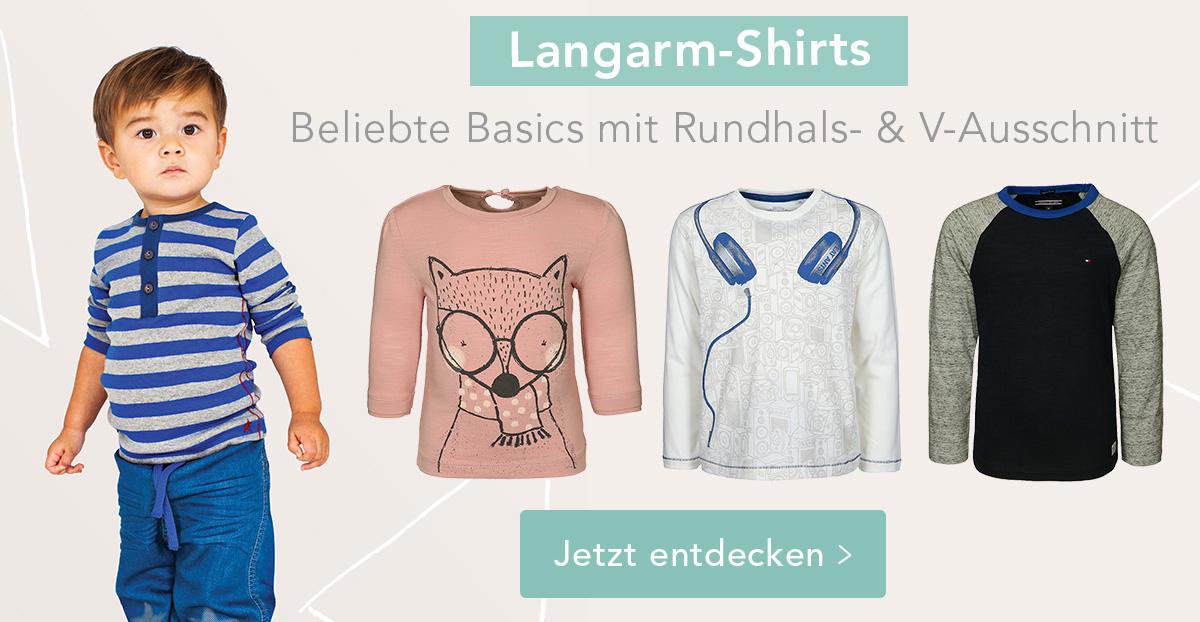 Langarm-Shirts mit Rundhals- & V-Ausschnitt! Jetzt entdecken >