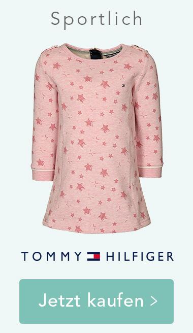 Sweatkleid STARS in rosa melange von Tommy Hilfiger. Jetzt kaufen >